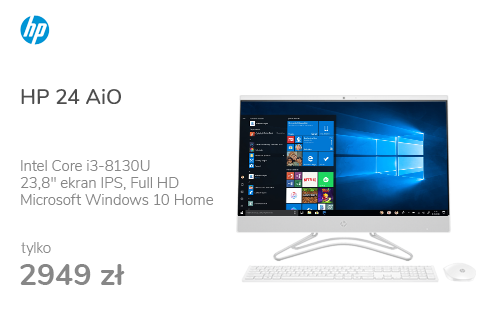 HP 24 AiO i3-8130U/8GB/240/Win10 IPS