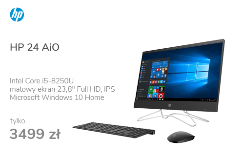 HP 24 AiO i5-8250U/16GB/240+1TB/Win10 IPS Black