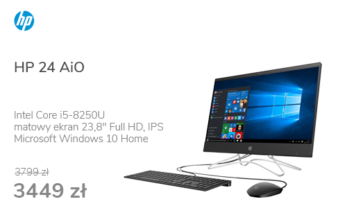 HP 24 AiO i5-8250U/16GB/240/Win10 MX110 IPS Black