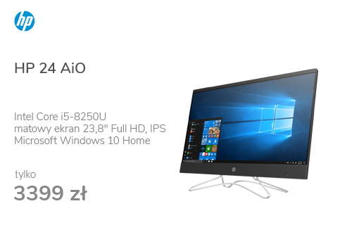 HP 24 AiO i5-8250U/8GB/240/Win10 MX110 IPS