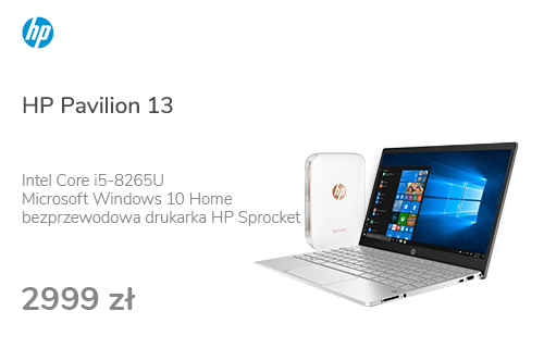 HP Pavilion 13 i5-8265U/8GB/256PCIe/Win10 IPS