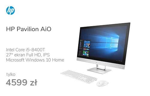 HP Pavilion AiO i5-8400T/8G/256PCie+1TB/W10 R530 IPS