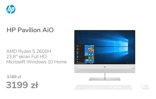 HP Pavilion AiO Ryzen 5-2600H/8GB/480/Win10