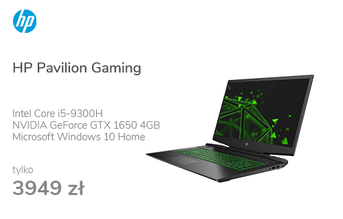 HP Pavilion Gaming i5-9300H/8GB/256/Win10x GTX1650