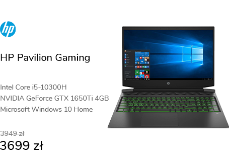 HP Pavilion Gaming i5/16GB/512/Win10X GTX1650Ti 14