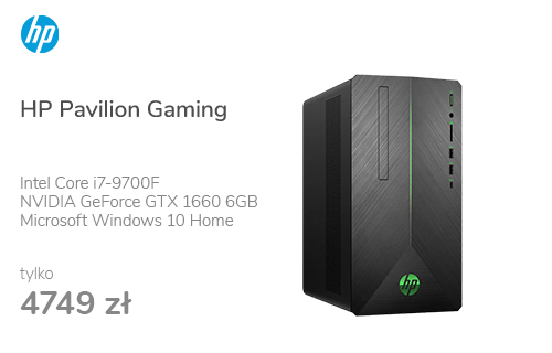 HP Pavilion Gaming i7-9700F/16GB/512+1TB/W10x GTX1660