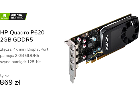 HP Quadro P620 2GB GDDR5