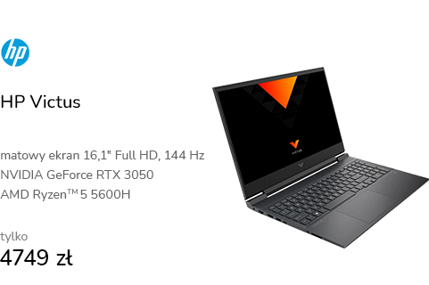 HP Victus Ryzen 5-5600H/16GB/512/Win10x RTX3050 14