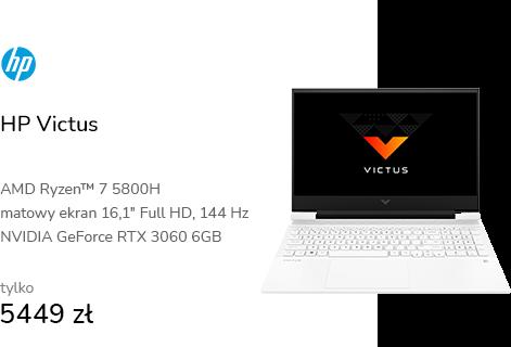 HP Victus Ryzen 7-5800H/16GB/512 RTX3060 144Hz