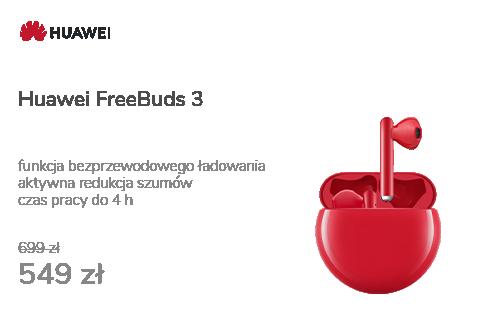 Huawei FreeBuds 3 czerwony