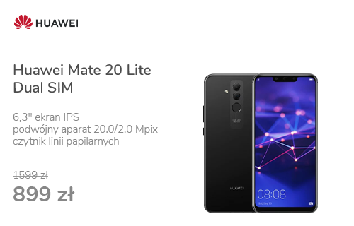 Huawei Mate 20 Lite Dual SIM czarny