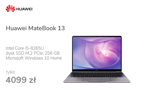 Huawei MateBook 13 i5-8265U/8GB/256/MX150/Win10