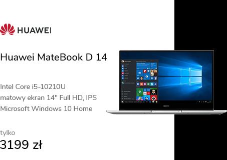 Huawei MateBook D 14 i5-10210U/8GB/256/Win10 srebr