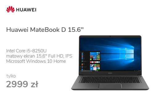 "Huawei MateBook D 15.6"" i5-8250U/8GB/128+1TB/Win10 MX150"