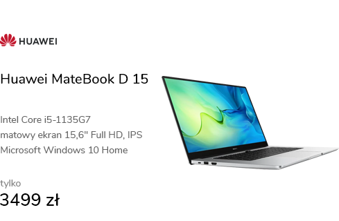 Huawei MateBook D 15 i5-1135G7/16GB/512/Win10 sreb