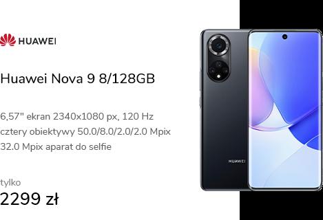 Huawei Nova 9 8/128GB czarny 120Hz