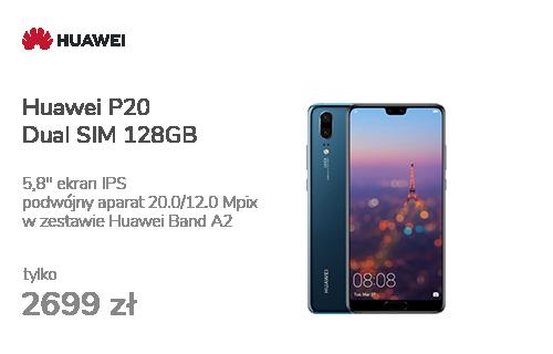 Huawei P20 Dual SIM 128GB Niebieski + Smartband