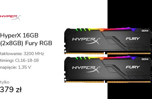HyperX 16GB (2x8GB) 3200MHz CL16 Fury RGB