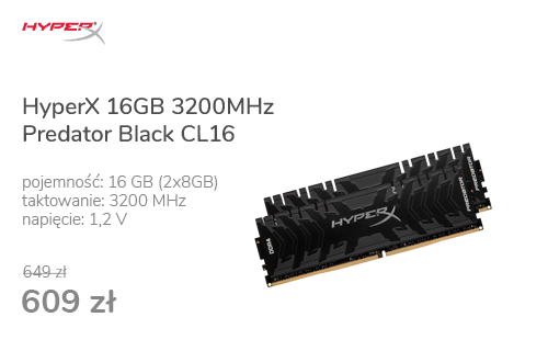 HyperX 16GB 3200MHz Predator Black CL16 (2x8GB)