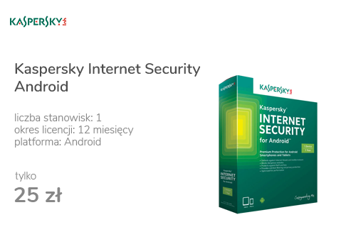 Kaspersky Internet Security Android 1st. (12m.) ESD