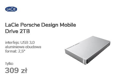 LaCie Porsche Design Mobile Drive 2TB USB 3.0