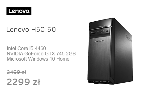 Lenovo H50-50 i5-4460/8GB/1000/DVD-RW/Win10X GTX745