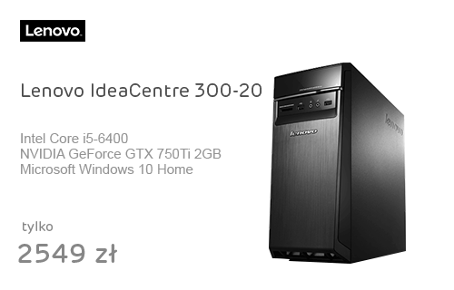 Lenovo IdeaCentre 300-20 i5-6400/8GB/1000/Win10 GTX750Ti