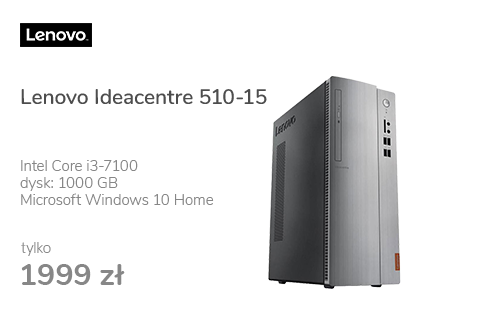Lenovo Ideacentre 510-15 i3-7100/8GB/1000/DVD-RW/Win10