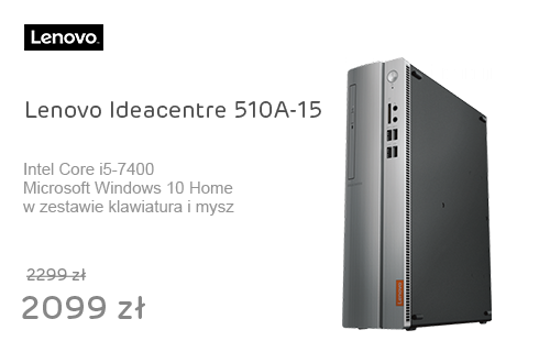 Lenovo Ideacentre 510A-15 i5-7400/8GB/1000/DVD-RW/Win10