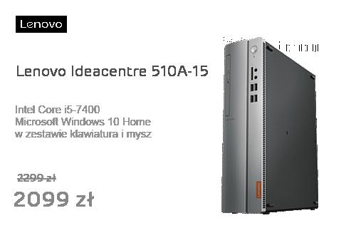 Lenovo Ideacentre 510A-15 i5-7400/8GB/1000/DVD-RW/Win10