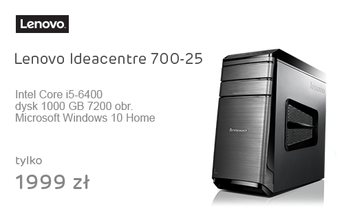 Lenovo Ideacentre 700-25 i5-6400/8GB/1000/Win10