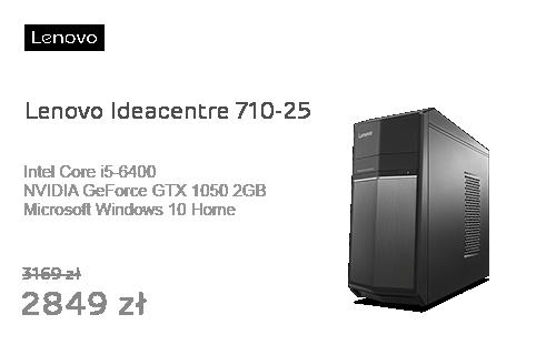 Lenovo Ideacentre 710-25 i5-6400/8GB/1000/Win10X GTX1050