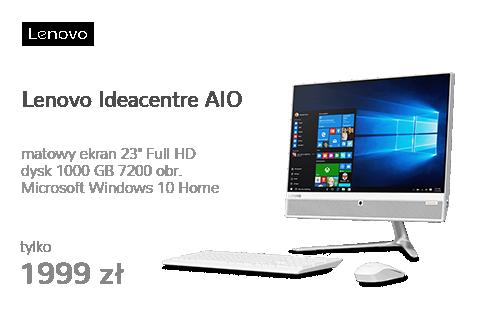 Lenovo Ideacentre AIO 510-23 A6-9210/4GB/1TB/Win10 Biały