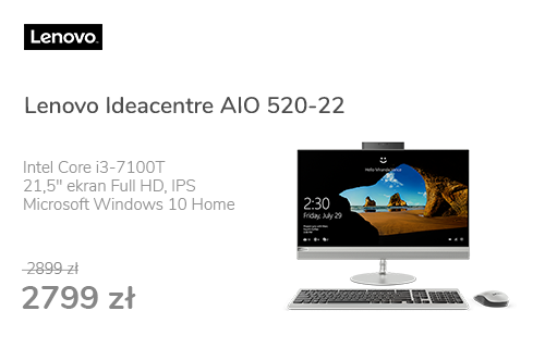 Lenovo Ideacentre AIO 520-22 i3-7100T/8GB/1000/Win10X Sre