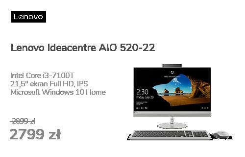 Lenovo Ideacentre AIO 520-22 i3-7100T/8GB/1000/Win10X Sre