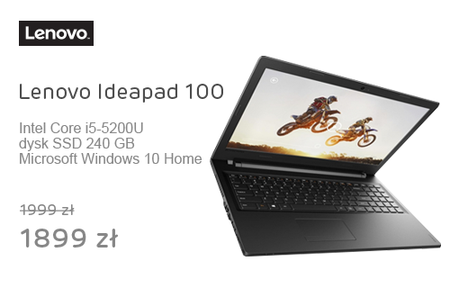 Lenovo Ideapad 100 i5-5200U/8GB/240/DVD-RW/Win10