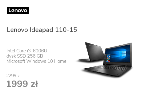 Lenovo Ideapad 110-15 i3-6006U/8GB/256/Win10