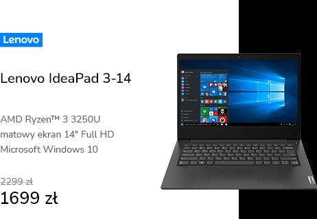 Lenovo IdeaPad 3-14 Ryzen 3/8GB/256/Win10