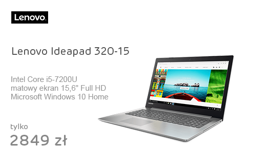 Lenovo Ideapad 320-15 i5-7200U/8GB/256/Win10 Srebrny