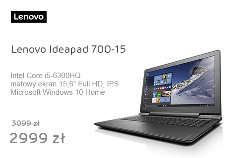 Lenovo Ideapad 700-15 i5-6300HQ/8GB/1000/Win10 GTX950M