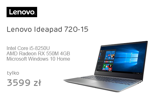 Lenovo Ideapad 720-15 i5/8GB/256/Win10X RX550