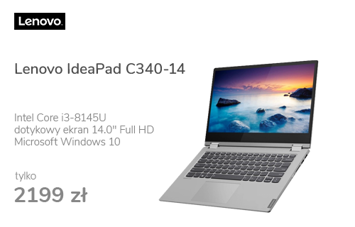 Lenovo IdeaPad C340-14 i3-8145U/8GB/240/Win10 Dotyk