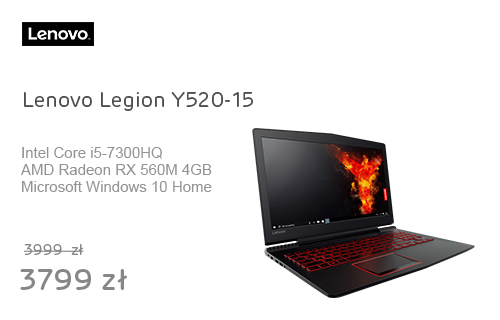Lenovo Legion Y520-15 i5-7300HQ/8GB/256/Win10X RX560