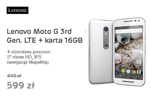 Lenovo Moto G 3rd Gen. LTE +Karta pamięci 16GB +Nawigacja