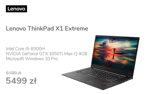 Lenovo ThinkPad X1 Extreme i5/8GB/256/Win10P GTX1050Ti ☆