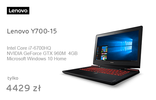 Lenovo Y700-15 i7-6700HQ/8GB/120+1000/Win10 GTX960M FHD
