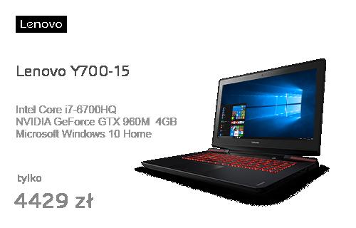 Lenovo Y700-15 i7-6700HQ/8GB/120+1000/Win10 GTX960M FHD