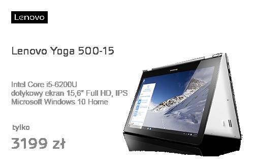 Lenovo Yoga 500-15 i5-6200/8GB/1000/Win10 GT940M FHD