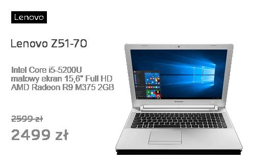 Lenovo Z51-70 i5-5200U/8GB/1000/Win10 R9 M375 Biały
