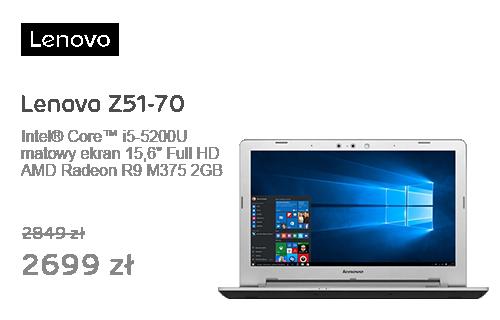 Lenovo Z51-70 i5-5200U/16GB/1000/DVD-RW/Win10 R9 M375